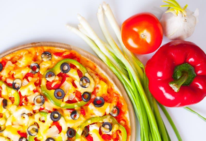овощи пиццы вкусные стоковые фотографии rf