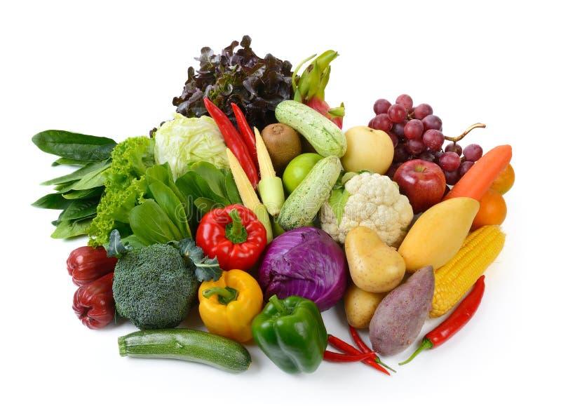 овощи плодоовощей предпосылки белые стоковые изображения rf