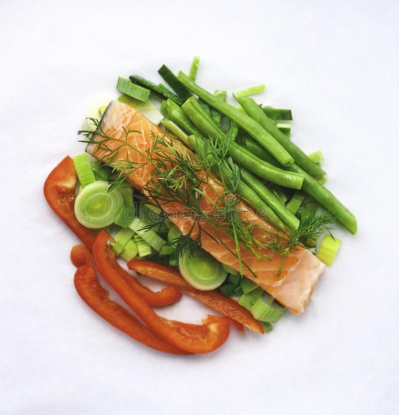 овощи предпосылки изолированные humpback salmon белые стоковые фотографии rf