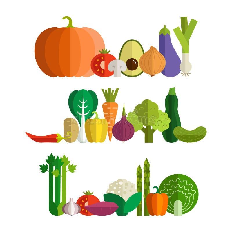 овощи продуктов свежего рынка земледелия иллюстрация штока
