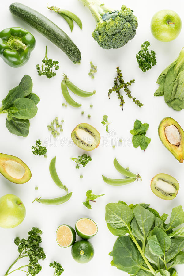 овощи плодоовощей зеленые стоковое фото