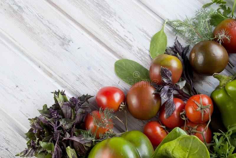 Овощи разнообразия зеленого и красного цвета, стоковые изображения rf