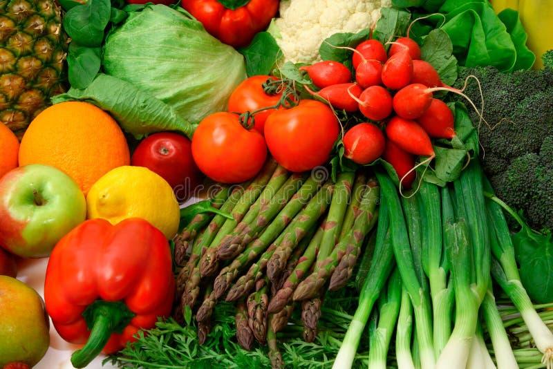 овощи свежих фруктов стоковые фотографии rf