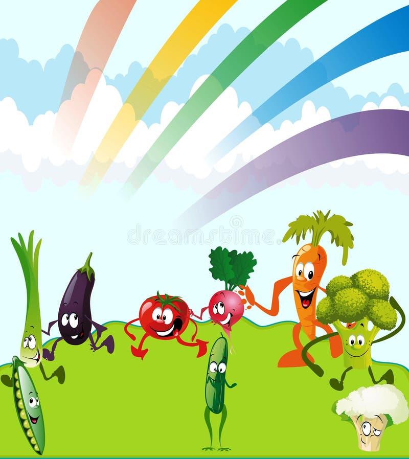 Овощи темы бесплатная иллюстрация
