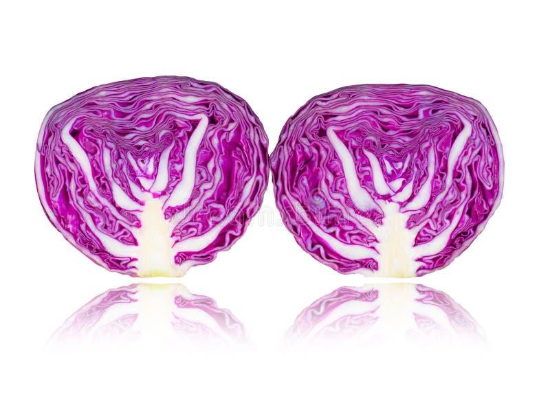 Овощи, фиолетовая капуста изолированная на белой предпосылке стоковое изображение