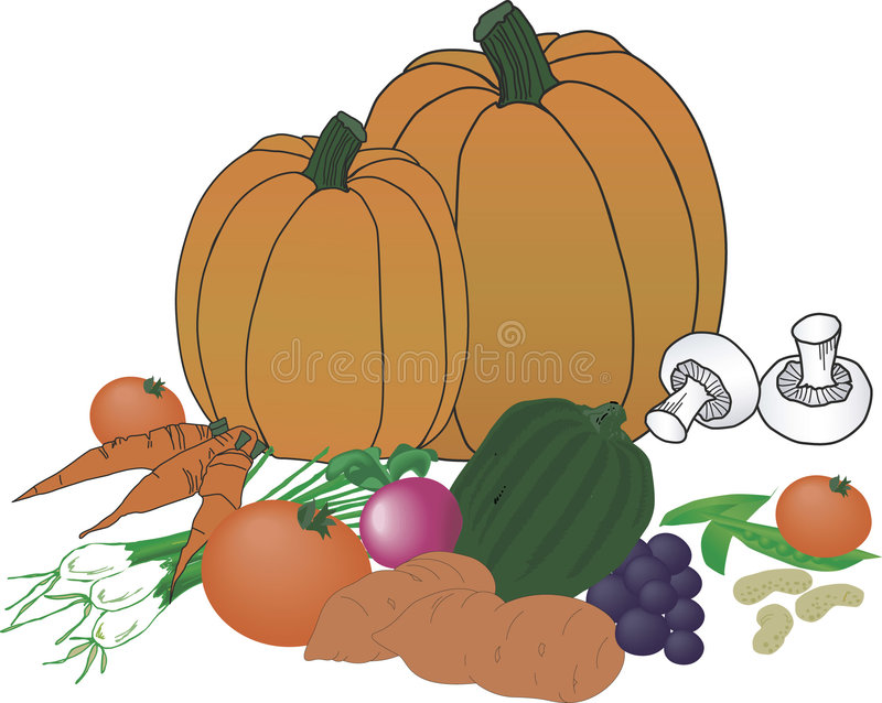 Download овощи хлебоуборки иллюстрация вектора. иллюстрации насчитывающей гриб - 487202