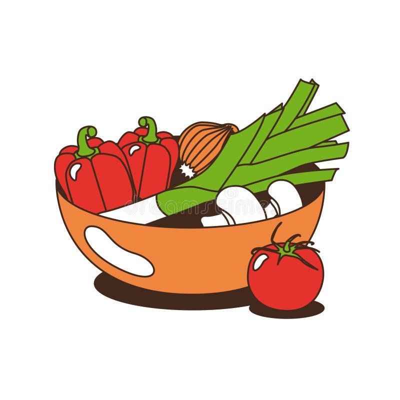 овощи шара иллюстрация вектора