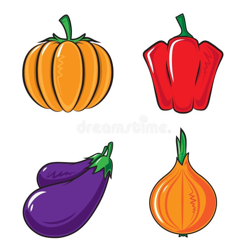 овощи элемента конструкции собрания бесплатная иллюстрация