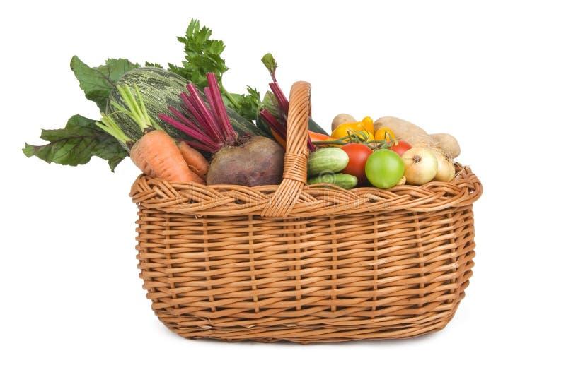 овощи handbasket стоковые изображения rf
