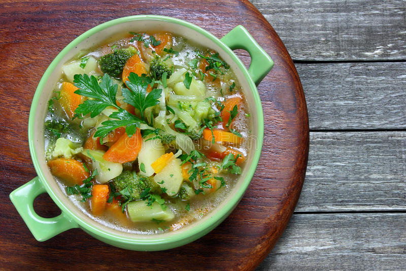 Овощной суп стоковое фото