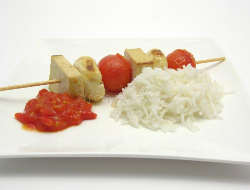 овощ вертела риса curd фасоли стоковые изображения