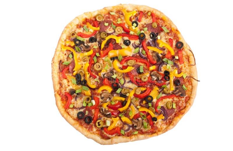 Овощ, гриб и пицца pepperoni стоковые фото