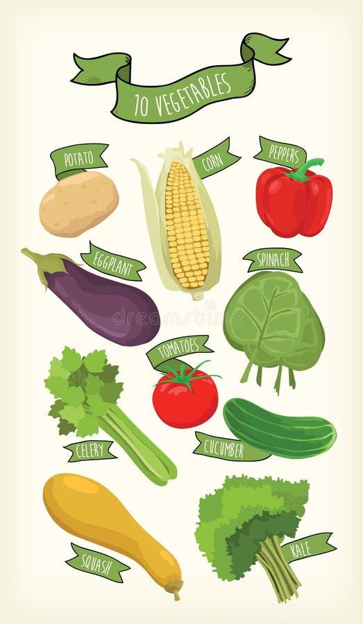 Овощ и cliparts стоковые фотографии rf