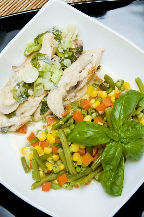 овощ мяса тарелки стоковые фотографии rf