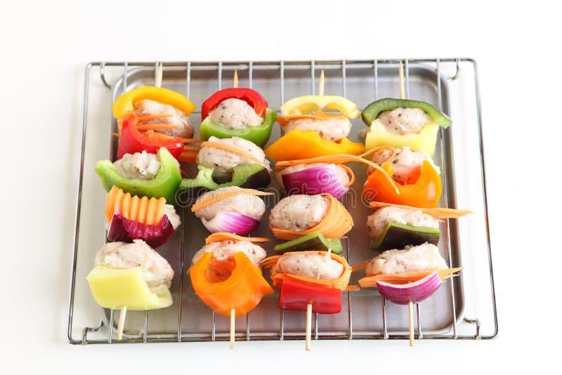 овощ мяса шарика стоковое изображение