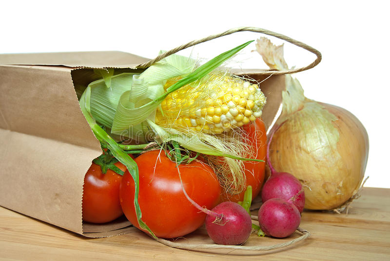 Овощ разливая из мешка стоковые фото