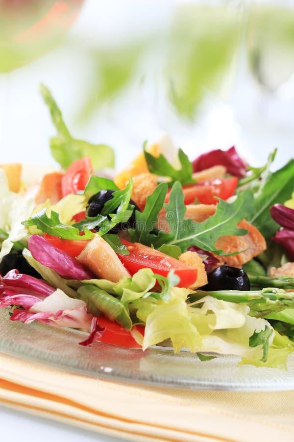 овощ салата из курицы стоковые изображения rf