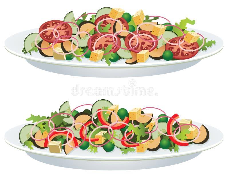 овощ салатов иллюстрация вектора