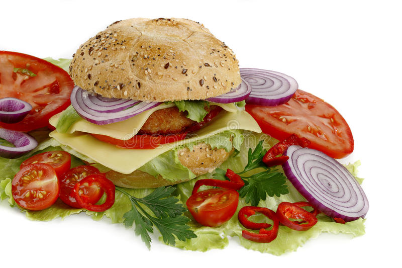 овощ сандвича стоковое изображение