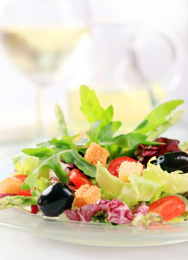 овощ смешанного салата стоковое изображение