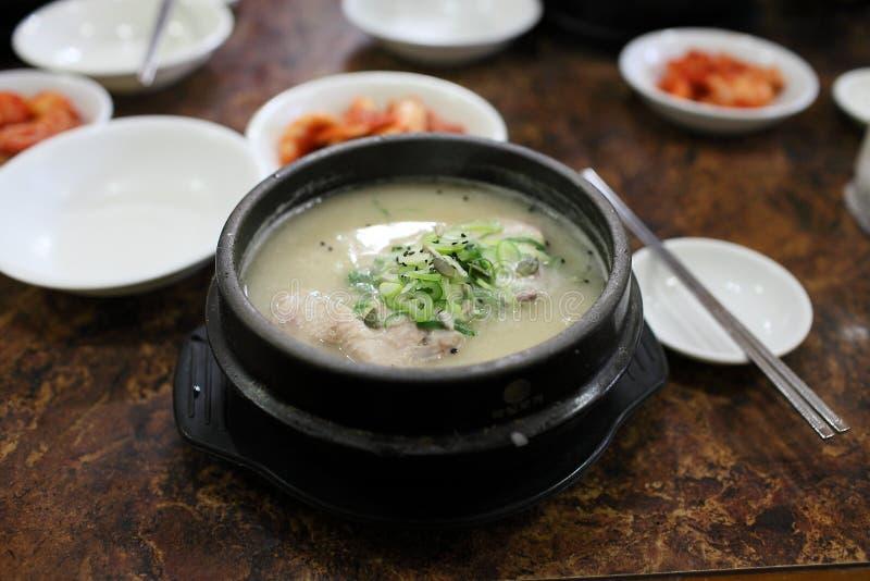 овощ супа цыпленка замаринованный женьшенью стоковые фотографии rf