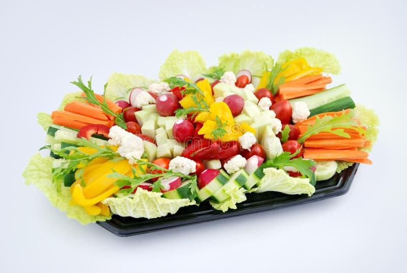 овощ тарелки стоковое изображение rf
