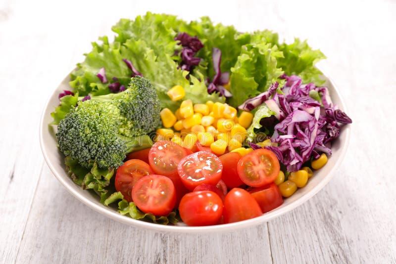 овощ томата салата смешивания салата огурца свежий стоковые фото