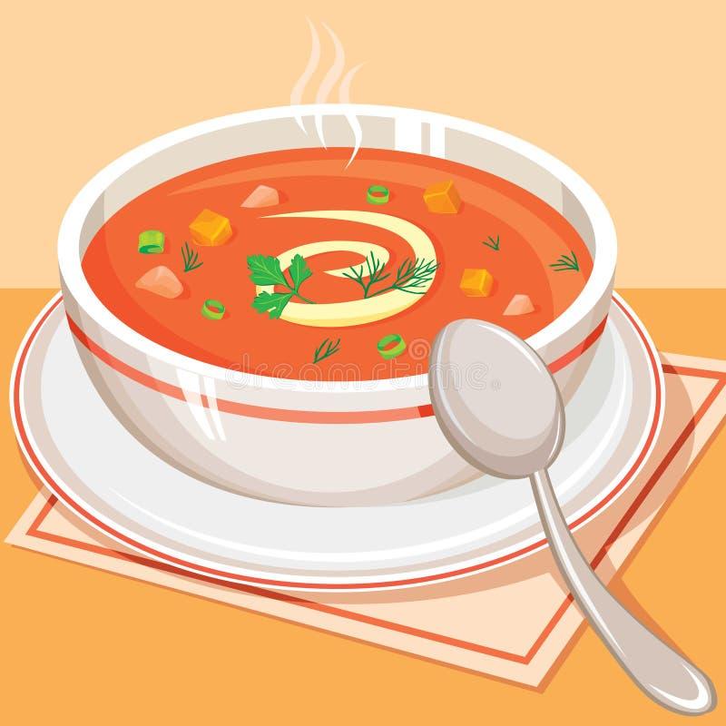овощ томата супа иллюстрация вектора