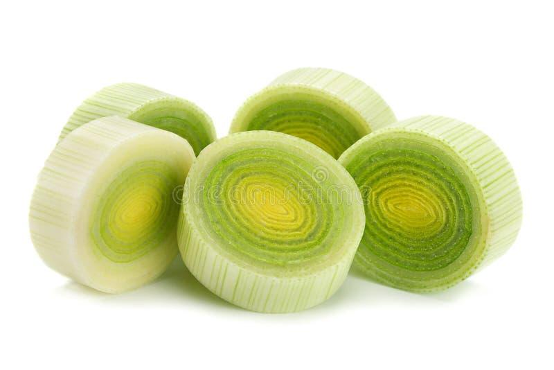 Овощ лук-порея на белизне стоковые фото