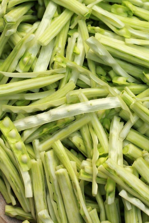 Овощ Moringa в рынке стоковые фото