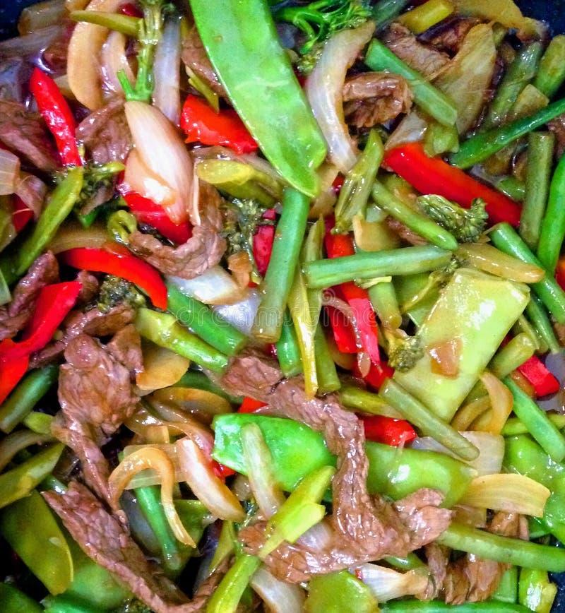 овощ stir fry говядины стоковое фото