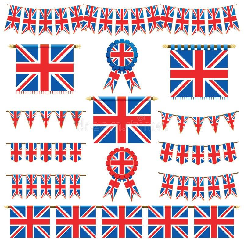 овсянка Британии знамен большая иллюстрация вектора