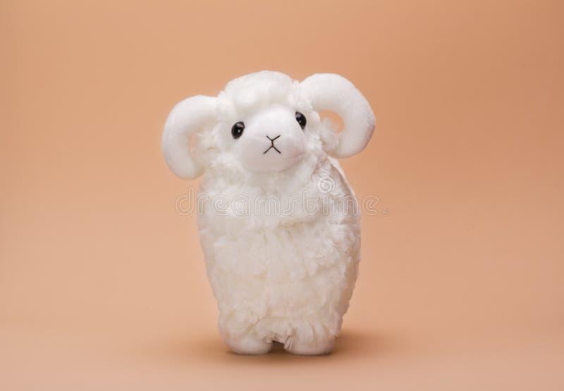 Овцы игрушки плюша стоковая фотография