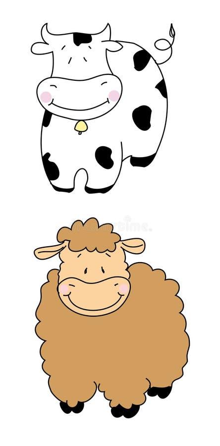овцы коровы стоковые изображения