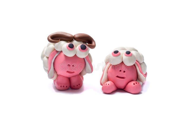 2 овцы пластилина стоковые изображения rf