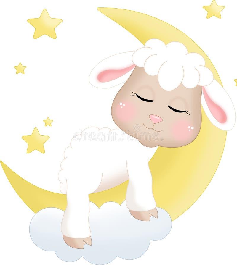Овцы спать бесплатная иллюстрация