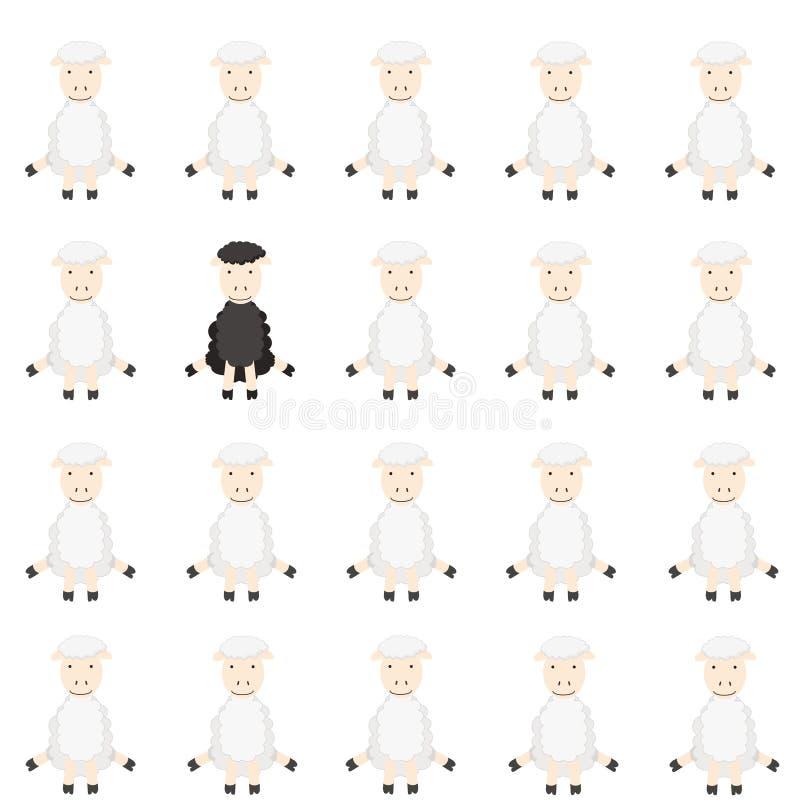 овцы стаи бесплатная иллюстрация