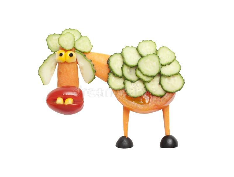 Овцы сделанные овощей стоковая фотография rf