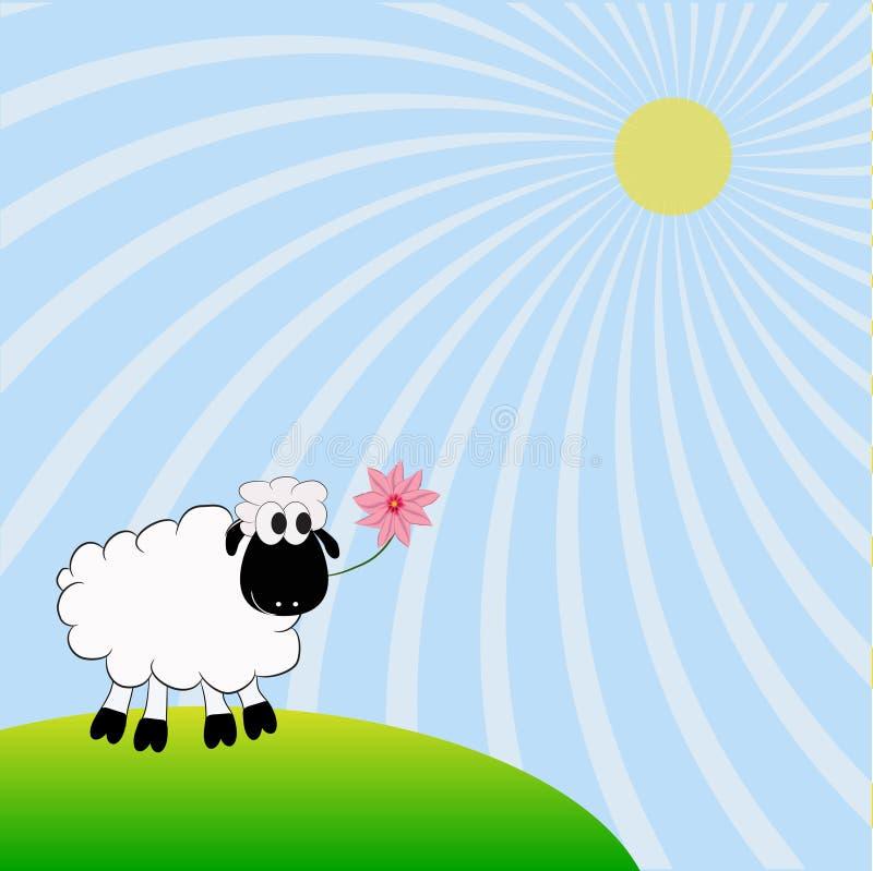 овцы иллюстрация вектора