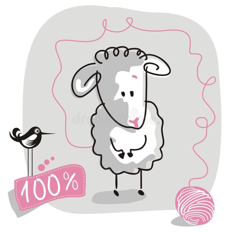 овцы doodle иллюстрация штока