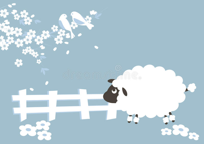 овцы seson бесплатная иллюстрация