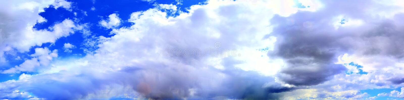 Оглушать красочная панорама неба захода солнца показывая красивые образования облака в высоком разрешении стоковые фотографии rf