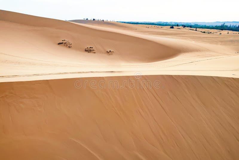 Оглушать широкоформатный воздушный взгляд трутня красивой красной песчанной дюны Текстура предпосылки угла песчанных дюн пустыни  стоковая фотография