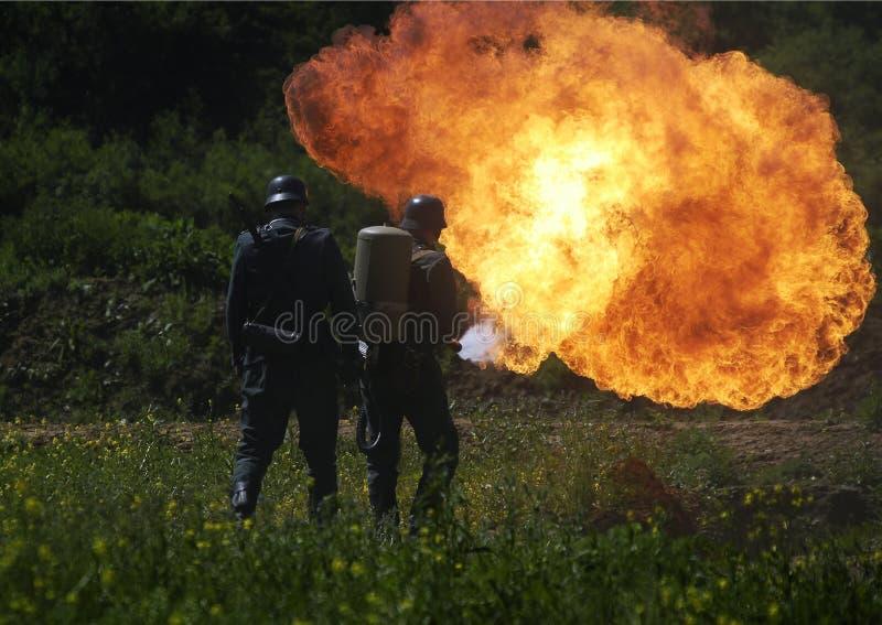 огнемет стоковая фотография rf