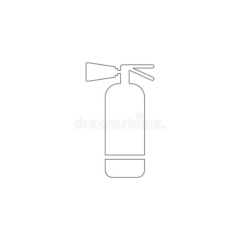 Огнетушитель плоский значок вектора иллюстрация вектора
