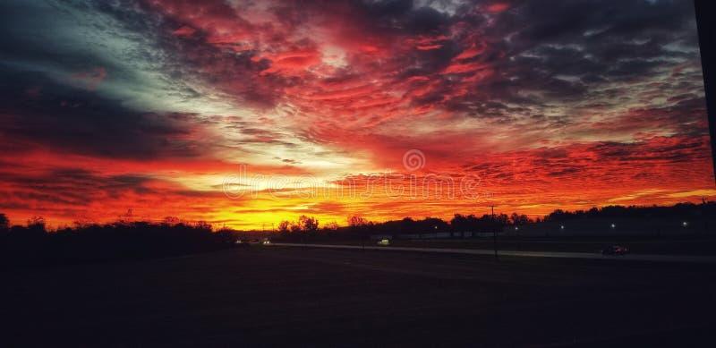 Огни утра стоковая фотография rf