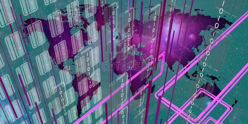 Оголтелые сообщения в глобальном мире иллюстрация вектора