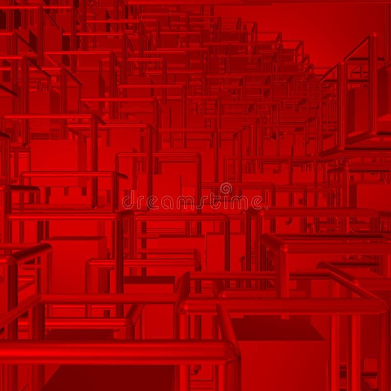 Оголтелые сообщения в красном глобальном мире бесплатная иллюстрация