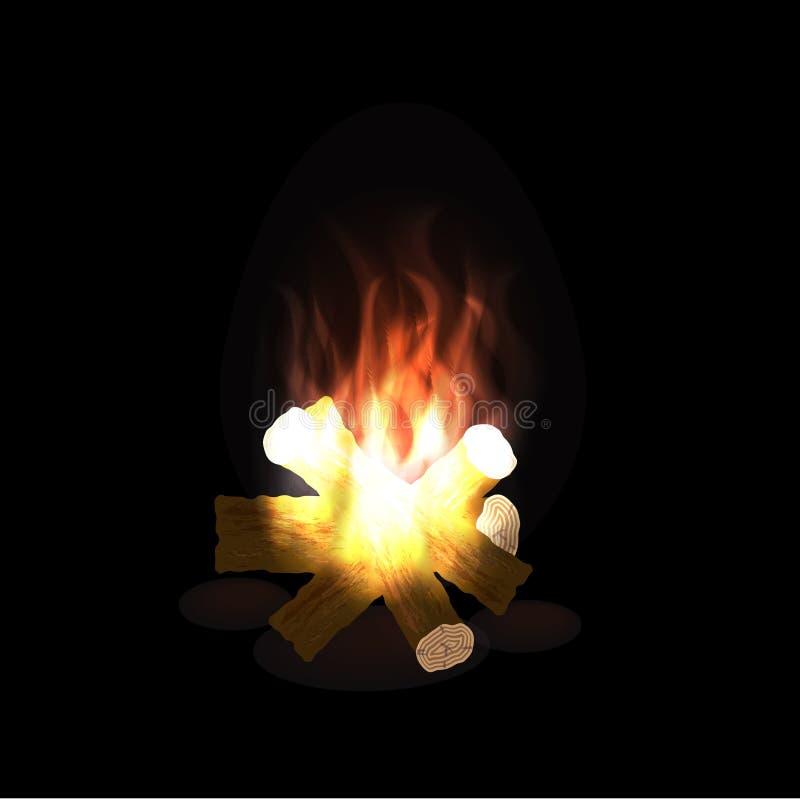 Огонь лагеря бесплатная иллюстрация