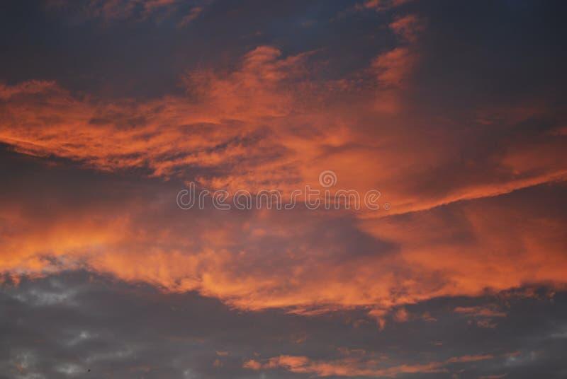 Огонь в небесах стоковое фото